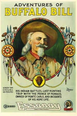 The Adventures of Buffalo Bill Movie Poster Print