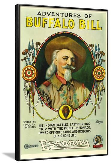 The Adventures of Buffalo Bill Movie Poster Print--Framed Poster