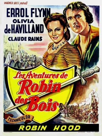 The Adventures of Robin Hood, Belgian Movie Poster, 1938