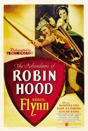 The Adventures of Robin Hood, Errol Flynn, Olivia De Havilland, 1938