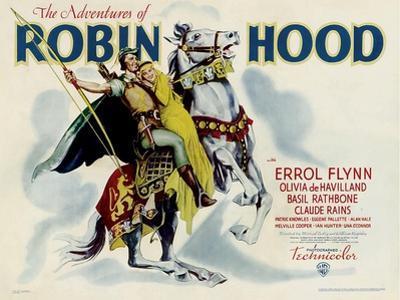 The Adventures of Robin Hood, Errol Flynn, Olivia DeHavilland, 1938
