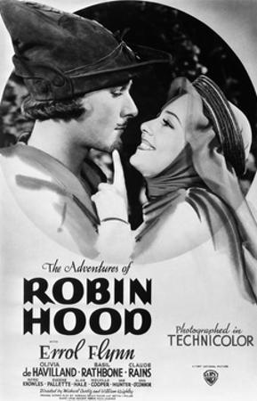 The Adventures of Robin Hood, from Left, Errol Flynn, Olivia De Havilland, 1938