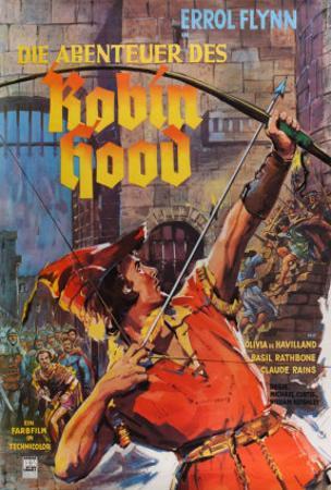 The Adventures of Robin Hood, German Movie Poster, 1938