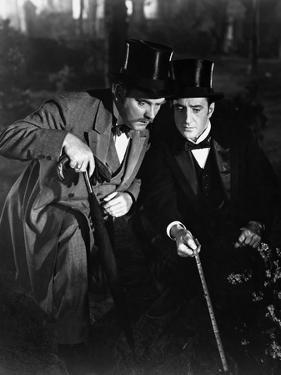 THE ADVENTURES OF SHERLOCK HOLMES, 1939 directed by ALFRED WERKER Nigel Bruce and Basil Rathbone (b