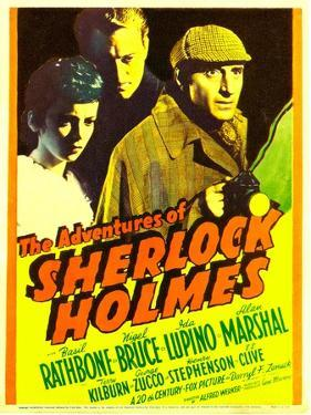 The Adventures of Sherlock Holmes, Ida Lupino, Alan Marshal, Basil Rathbone, 1939