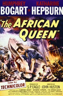 The African Queen - Movie Poster Reproduction