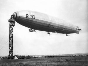 The Airship R.33 is Pictured at Croydon, July 1921