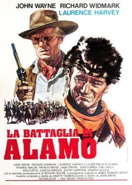 The Alamo, (AKA La Battaglia Di Alamo), from Left: Richard Widmark, John Wayne, 1960
