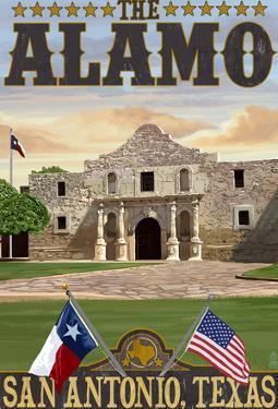 The Alamo Morning Scene - San Antonio, Texas