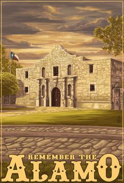 The Alamo Sunset - San Antonio, Texas