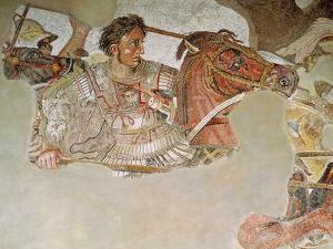 The Alexander Mosaic, Detail of Alexander the Great (356-323 BC) at the Battle of Issus
