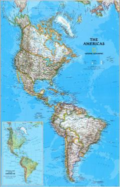 The Americas Political Map