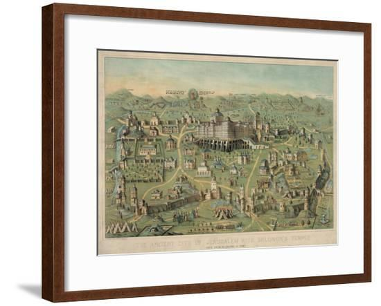 The Ancient City of Jerusalem with Solomon's Temple--Framed Giclee Print
