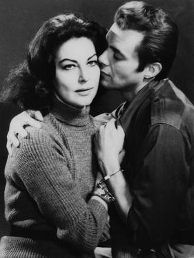 The Angel Wore Red by Nunnally Johnson with Ava Gardner, Dirk Bogarde, 1960 (b/w photo)