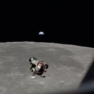 The Apollo 11 Lunar Module Ascending from Moon's Surface, July 20, 1969
