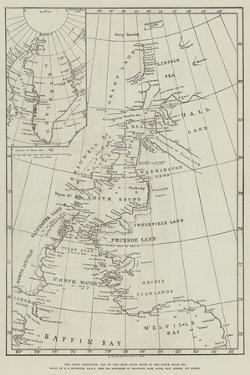 The Arctic Expedition, Map of the Smith Sound Route to the North Polar Sea
