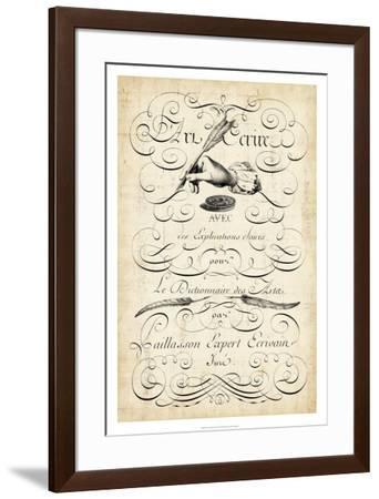 The Art of Penmanship--Framed Giclee Print
