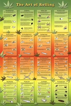 The Art of Rolling Joints Pot Marijuana Art Print Poster