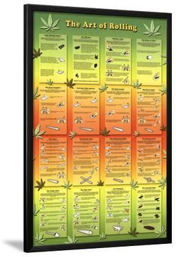 The Art of Rolling Joints Pot Marijuana Art Print Poster
