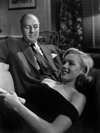 The Asphalt Jungle, Louis Calhern, Marilyn Monroe, 1950