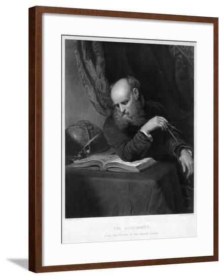 The Astronomer, 19th Century-R Bell-Framed Giclee Print