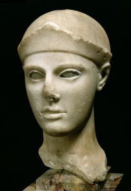The Athena of Aegina, Wearing a Helmet, Head of a Statue, Greek, Aeginetan, circa 460 BC