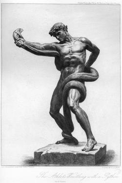The Athlete Wrestling with a Python, C1880-1882 by A Gilbert