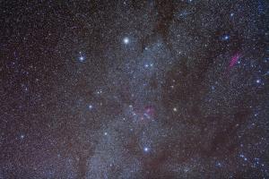 The Auriga Constellation Showing Lanes of Dark Nebulosity