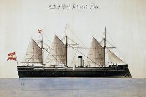The Austrian Battleship the Erzherzog Ferdinand Max