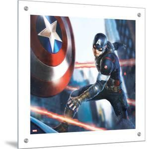 The Avengers: Age of Ultron - Captain America Throwing his Shield