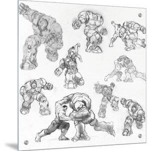 The Avengers: Age of Ultron - Hulk and Hulkbuster Sketches