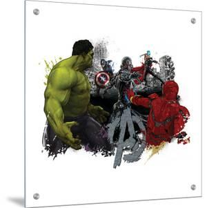 The Avengers: Age of Ultron - Hulk Iron Man, Captain America, and Thor vs. Ultron