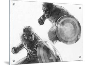 The Avengers: Age of Ultron - Sketches of Captain America