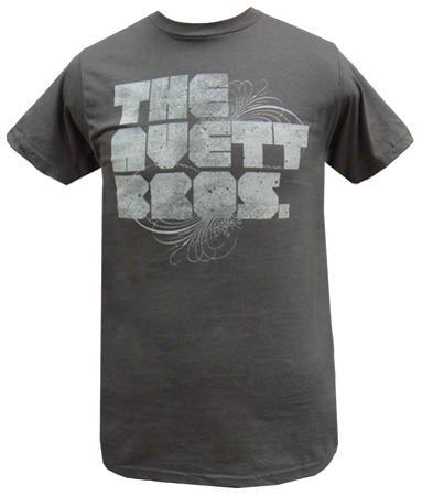 The Avett Brothers - Grey Distressed Logo (slim fit)