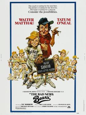 THE BAD NEWS BEARS, US poster, from left: Tatum O'Neal, Walter Matthau, 1976