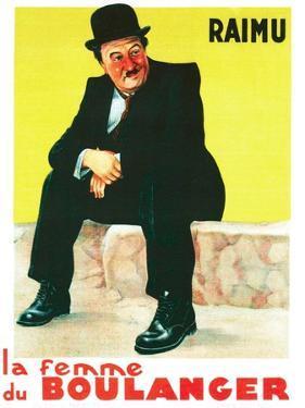 THE BAKER'S WIFE, (aka LA FEMME DU BOULANGER), French poster art, Raimu, 1938
