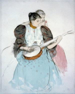 The Banjo Lesson, Painting by Mary Cassatt, 1894
