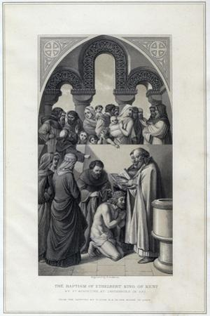 The Baptism of Ethelbert King of Kent, by St Augustine, Canterbury in 597