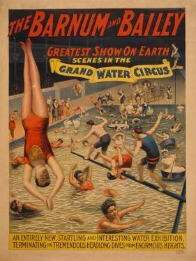 The Barnum and Bailey Greatest Show on Earth. Scenes in the Grand Water Circus, C. 1895