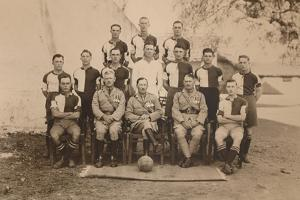 The Battalion Football Team of the First Battalion, the Queen's Own Royal West Kent Regiment