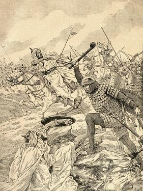 The Battle of Tours Aka the Battle of Poitiers, 732. from Agenda Buvard Du Bon Marche Published…