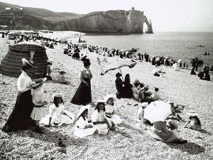 The Beach at Etretat, C.1900