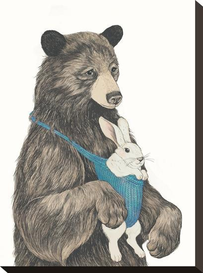 The Bear Aupair-Laura Graves-Stretched Canvas