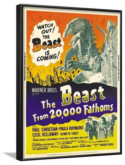 The Beast From 20,000 Fathoms, 1953--Framed Art Print