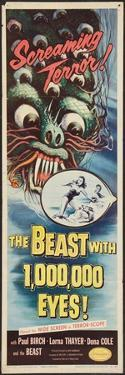 THE BEAST WITH A MILLION EYES, insert poster, 1955.