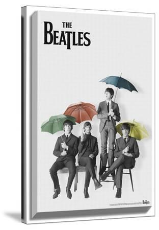 The Beatles - Black and White with Color Umbrellas