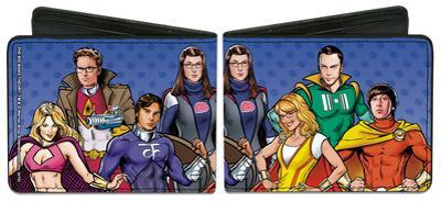 The Big Bang Theory Superhero Characters Wallet