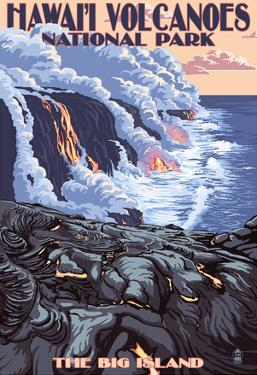 The Big Island, Hawaii - Lava Flow Scene