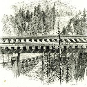 The Big Loop on the Shasta Railway Near Mccloud 1891, USA
