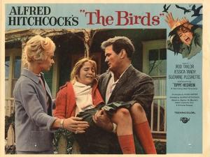 The Birds, Lobbycard, L-R: Tippi Hedren, Rod Taylor, 1963